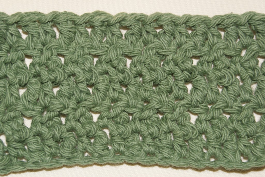 Another pic of several rows of seed stitch variation pattern