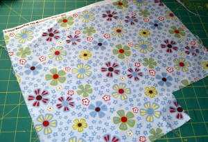 Scrap fabric that I will rip into strips.